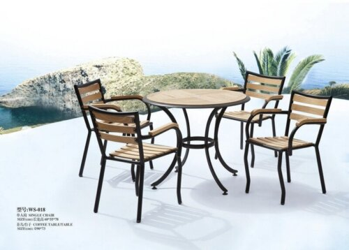 Iron-and-Wood-Outside-Round-Table-and-Chairs-Set
