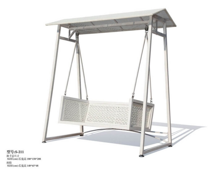 White-Wooden-Patio-Hanging-Sofa-with-Metal-Frame