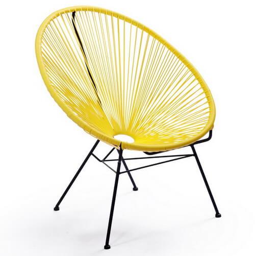 Modern-Yellow-Outdoor-Garden-Chair-with-Metal-Frame
