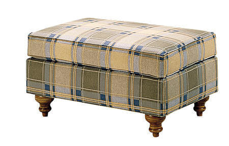 modern_comfortable_tartan_fabric_leisure_chair_ottoman_wood_frame_2