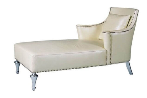 modern_cream_leather_two_arm_chaise_lounge_stainless_steel_for_hotel_1