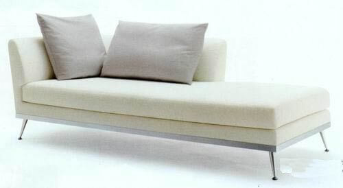 modern_cream_leather_two_arm_chaise_lounge_stainless_steel_for_hotel_2