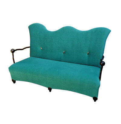 nordic_leisure_wave_shape_two_seat_hotel_room_sofa_colorful_fabric_wooden_frame_2