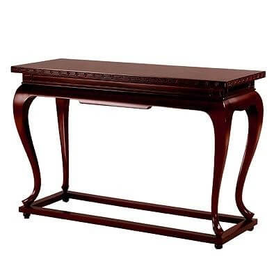 pedestal_style_wood_console_table_with_distressed_finish_gold_leaf_glass_table_1