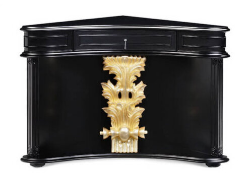 unique_wood_console_table_mahogany_finished_half_circular_carved_painting
