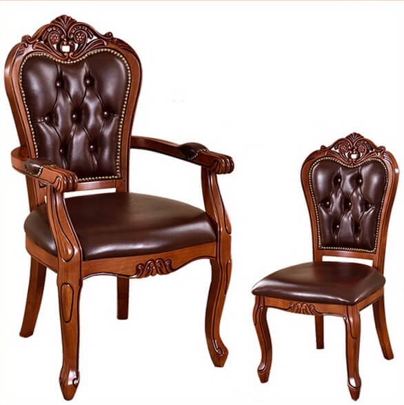European_style_armchair_leather_hotel_dining_chairs_carved_wooden_sofa_chair