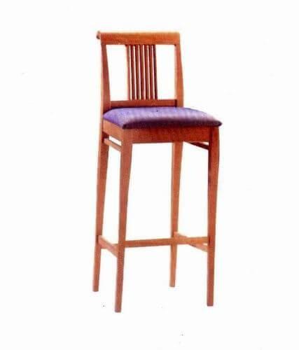 antique_oak_wood_square_cushion_hotel_bar_stools_with_round_back_1