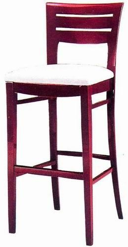 antique_oak_wood_square_cushion_hotel_bar_stools_with_round_back_2