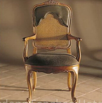lacroix_arm_hotel_dining_chairs_leather_solid_wood_carver_armchair
