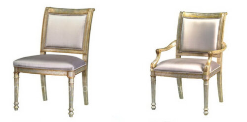 silvered_and_gilt_eglomise_side_arm_hotel_dining_chairs_with_silk_back_and_seat