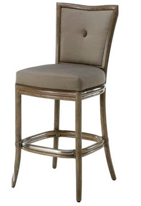 square_back_comfortable_high_oak_hotel_bar_stools_for_restaurant