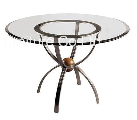 stainless_steel_leg_round_commercial_restaurant_tables_modern_glass_top_1