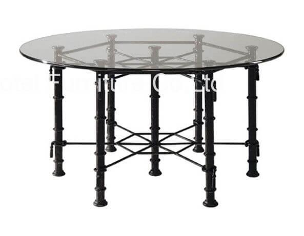 stainless_steel_leg_round_commercial_restaurant_tables_modern_glass_top_2