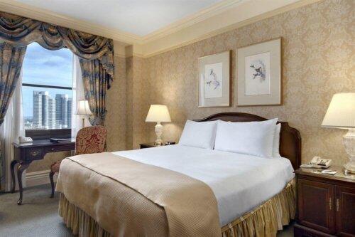 luxury_king_twin_bed_ebony_wood_guest_room_furniture_mdf_custom_1